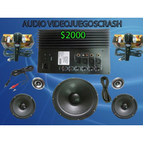 Kit Completo Audio Amplificador Y Bocinas, Bafle Amplificado