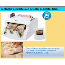 Contadora De Billetes + Detector De Billetes Falsos Bill-100