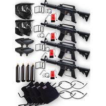 4 Marcadora Tippmann Alpha Black Gotcha Paintball Xtreme