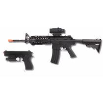Marcadora Airsoft Kit Rifle Y Pistola Colt A17 Eléctrica
