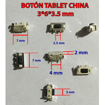 Boton De Encendido O Volumen Tablet China 3x6x3.5 5 Piezas