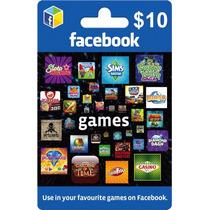 Tarjeta Gift Card Facebook $10 Usd Credito Para Juegos Y App