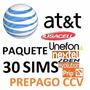 Chip Sims At&t: Unefon,nextel,iusacell;prip- 30 Sims $10xpza