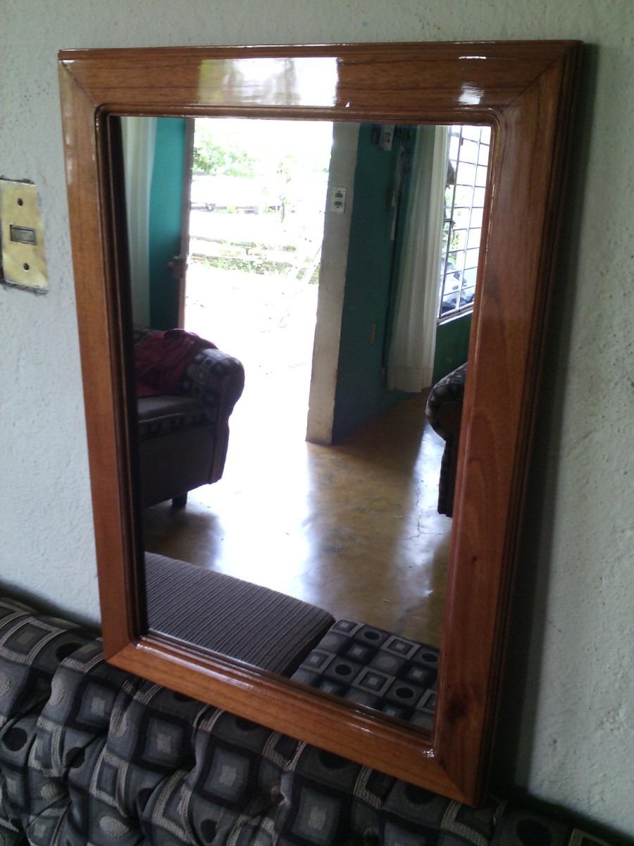 Marco para espejo en madera en mercadolibre for Espejos de pared madera