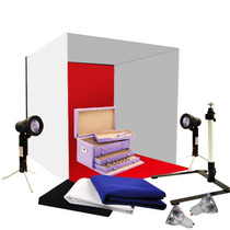 Foto Studio 24 Fotografía Luz Cubo 60cm Kit Backdrop Carpa