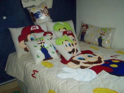 Mario Bross En Colcha Matrimonial $3200.00 Aa1