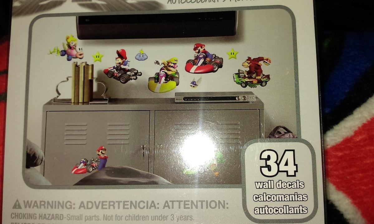 Mario kart calcomanias de pared en mercadolibre for Calcomanias pared