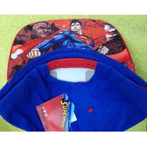 Gorra Beisbol Superman Visera Decorada - 100% Original