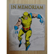 Wolverine In Memoriam Marvel Promo Card