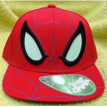 Gorra Beisbol Spiderman Brilla En La Oscuridad 100% Original