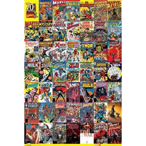 Marvel Universe 70 Years Portadas Poster New