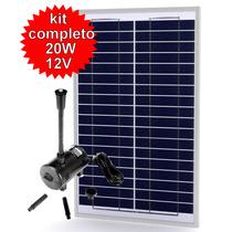 Bomba De Agua Solar Kit Completo 20w
