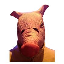 Mascara De Cerdo Para Broma O Halloween Hecha De Latex