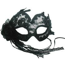 Masquerade Costume - Negro Claro Ojo Transparente Máscara D
