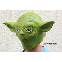Yoda Maestro Yedi Máscara Star Wars Disfraz Latex