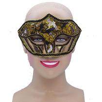 Masquerade Costume - Oro De Las Señoras Con Dibujos Materia
