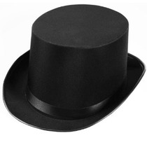Foro Novedades Hombres Deluxe Adulto Satén Sombrero De Copa