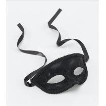 Masquerade Costume - Negro Ojos Máscara Con La Cinta Lazo F