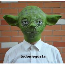 Máscara De Yoda Maestro Yedi Star Wars Disfraz Latex