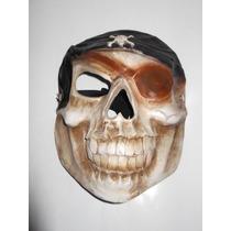 Calavera Pirata Mascara Disfraz Fibra De Vidrio