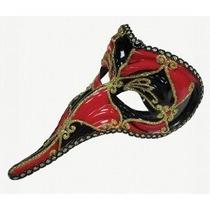 Masquerade Costume - Rojo Negro Loki Face Eye Mask Fantasía
