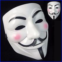 Mascara V De Vendetta, Protesta, Disfraz Fiesta Beige Dorado