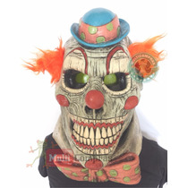Brittle Clown Payaso Mascara De Latex Halloween Disfraz