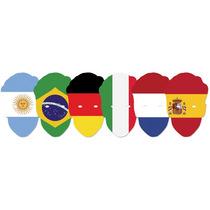 Bandera Mascarilla - Copa Del Mundo Contendientes X6 Oficial