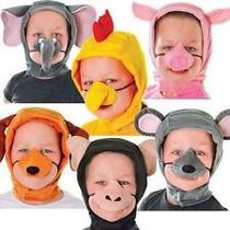 Disfraz De Pollo - Gallina Para Niños Kids Capucha Nariz De