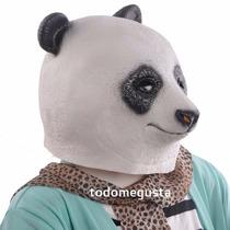 Cabeza De Oso Panda Máscara Disfraz Halloween Latex Panda
