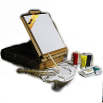 Centro De Arte Estuche Pintar Dibujar Dibujo Artistico Vv4