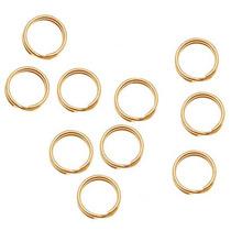 14k Anillos Baño Oro Partidos 4.5mm (10)