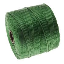 Cordón Súper Largo Beadsmith - Tamaño 18 Nylon Verde