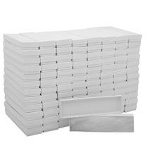 Cajas Blancas De Cartón Para Joyas Collares 20x5x2.5cm (100)