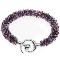 Pulsera Con Tonos Púrpura Para Cuentas De Kumihimo