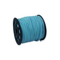 Cordón En Carrete A Granel De Cuero Falso Azul Turquesa91mts