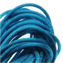 Cordón Cola De Ratón De Satén, Nudo Y Trenza Azul Turquesa