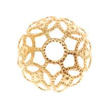 22k Gold Plated Large Ornate Filigree Bead Caps 11mm (20)