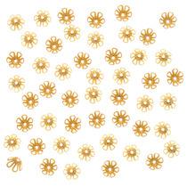 Cascarillas De Flor Chapadas En Oro 22k 6mm X 3.5mm (50)