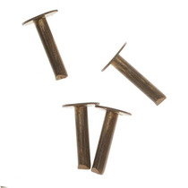 Vintaj Remaches De Bronce Natural 1/4 Pulgadas (20 Piezas)