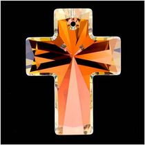 Pendiente Cristal Swarovski, Cruz #6864 40x30mm, Cristal Ab
