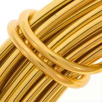 Alambre De Aluminio Color Oro Calibre 12 (11.8 Metros)