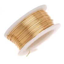 Artistic Craft Wire Gold Color Brass Notarnish 18 Gauge