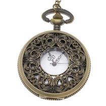 Pendiente Reloj De Bolsillo -cobre Antiguo Movimiento Cuarzo