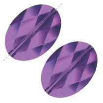 Swarovski Cuentas Cristal 5050 Ovaladas 14mm, 2 P. Amatista