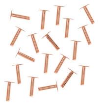 Remaches Cabeza Clavo Pulgada 1/4 Cobre 1.3mm Diámetro (20)