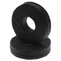 Collar Lino Irlandés Encerado O Cuerda Para Anudar 1mm Negro