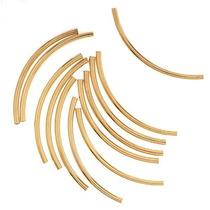 22k Cuerdas Curvadas De Tubo Chapado En Oro 2mm X 38mm (12)