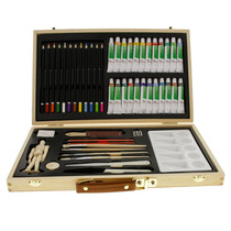Kit De Pintura Art Supply® Acuarela Oleo Acrílico 50 Piezas