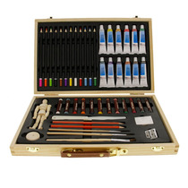 Kit De Pintura Art Supply® Acuarela Oleo Acrílico 46 Piezas